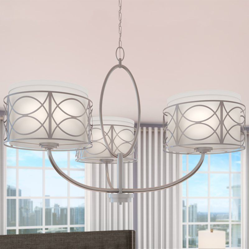Helina 3 Light Drum Chandelier | Dining Room | Pinterest Within Helina 1 Light Pendants (View 19 of 25)