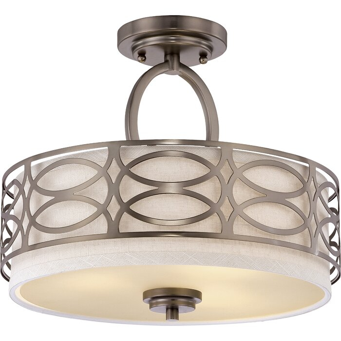 Helina 3 Light Semi Flush Mount For Helina 1 Light Pendants (View 8 of 25)