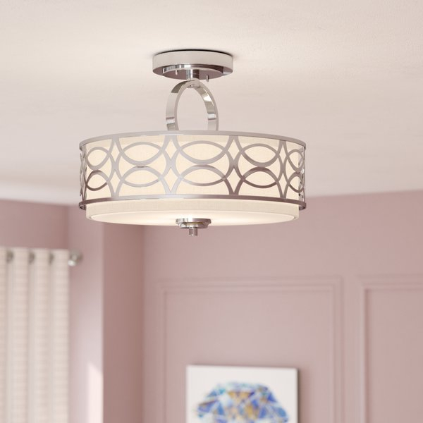Helina 3 Light Semi Flush Mount Pertaining To Helina 1 Light Pendants (View 9 of 25)