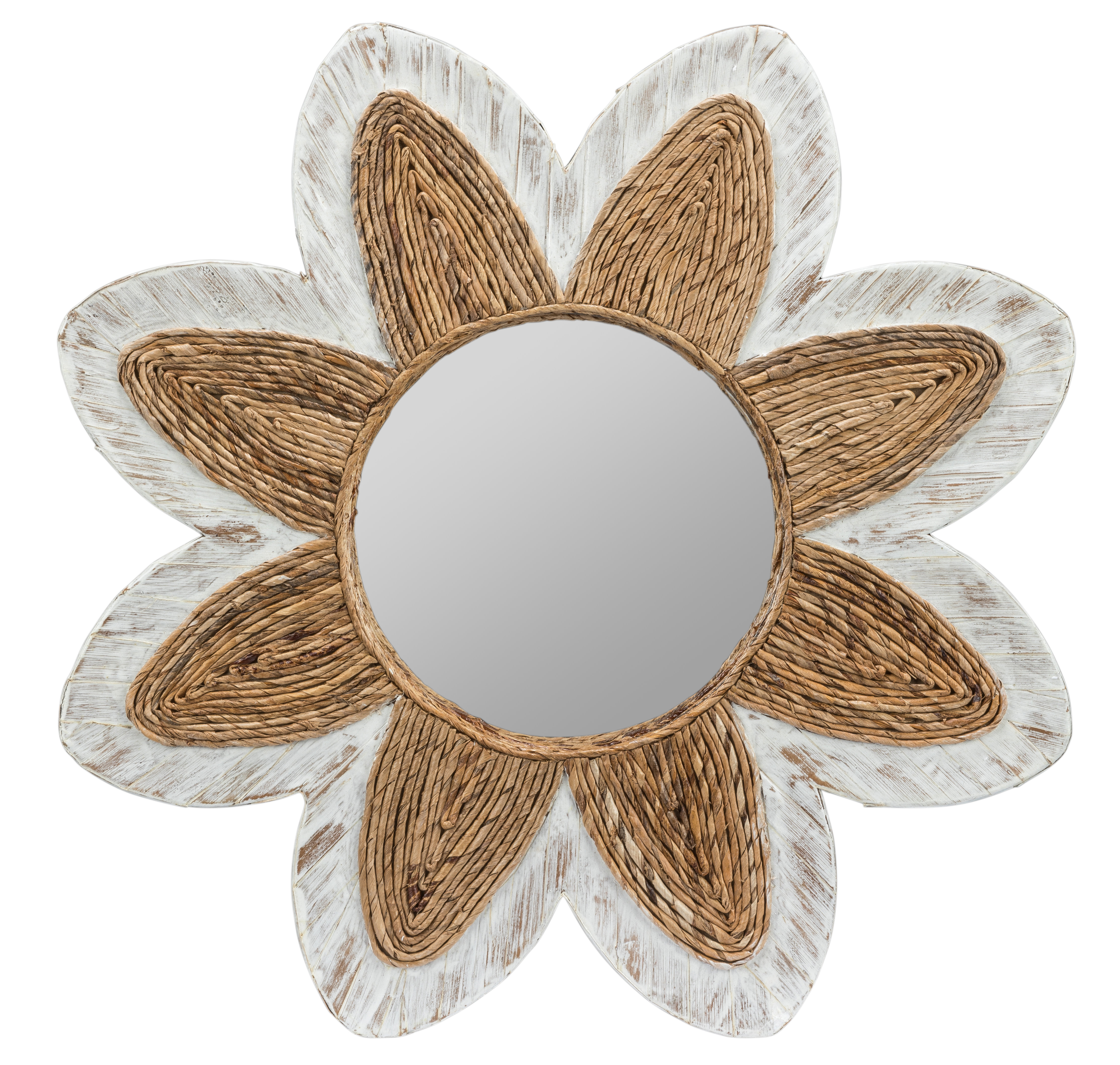 Henault Accent Mirror Throughout Sajish Oval Crystal Wall Mirrors (View 14 of 20)