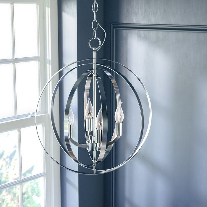 Hendry 4 Light Chandelier In 2019 | Upgrades | Chandelier Within Helina 1 Light Pendants (View 22 of 25)