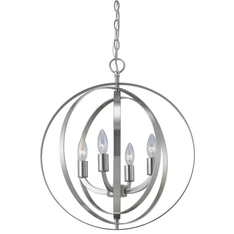 Featured Image of Hendry 4 Light Globe Chandeliers