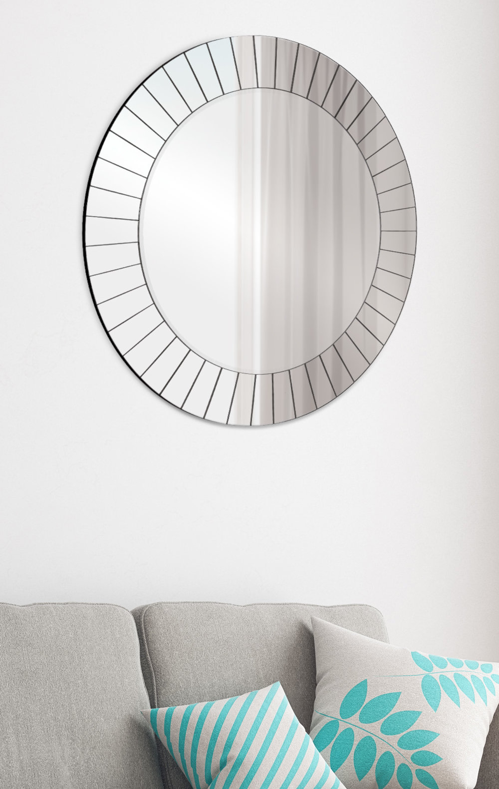 Henriette Frameless Accent Mirror | Birch Lane Inside Glen View Beaded Oval Traditional Accent Mirrors (View 19 of 20)