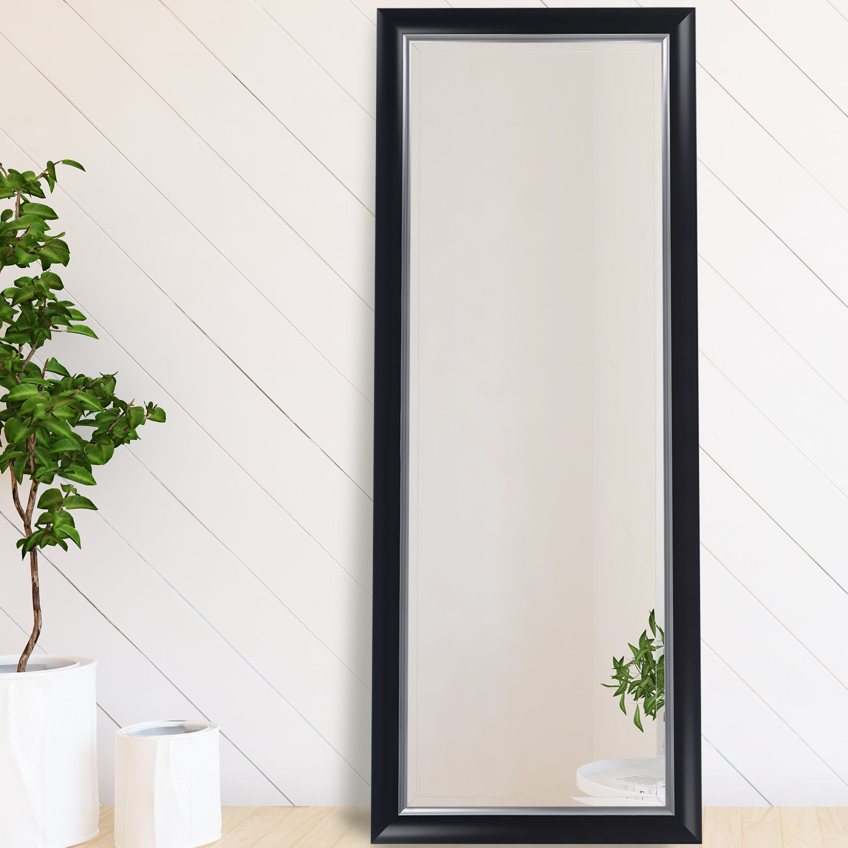 Henriqueta Scoop Framed Beveled Full Length Mirror With Regard To Dedrick Decorative Framed Modern And Contemporary Wall Mirrors (Image 11 of 20)
