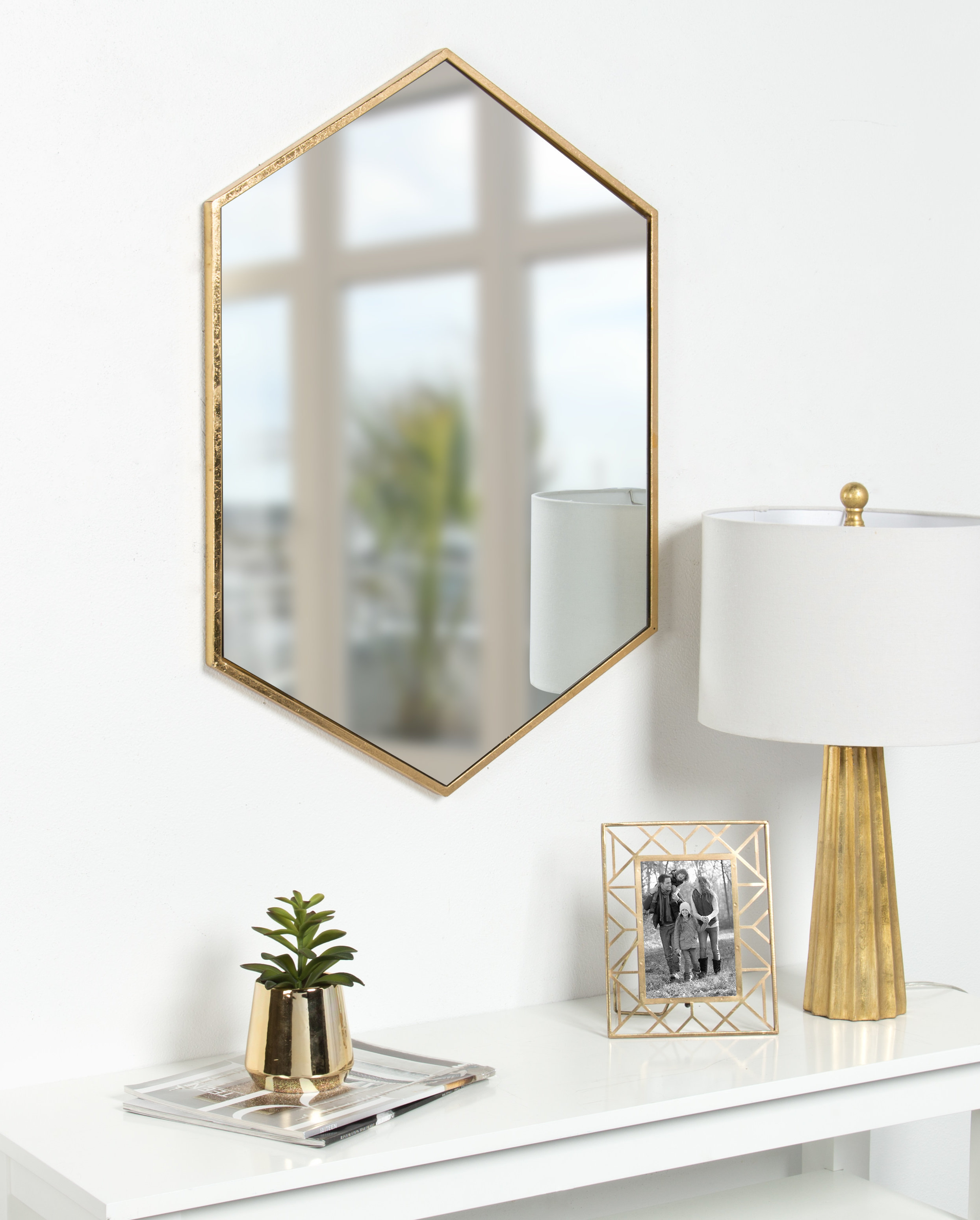 Hentz Modern & Contemporary Wall Mirror Intended For Dekalb Modern & Contemporary Distressed Accent Mirrors (Image 7 of 20)
