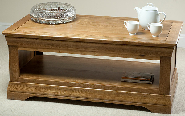 Hercules Rustic Solid Oak 2 Drawer Coffee Table With Regard To Rustic Oak Coffee Tables (Image 7 of 25)