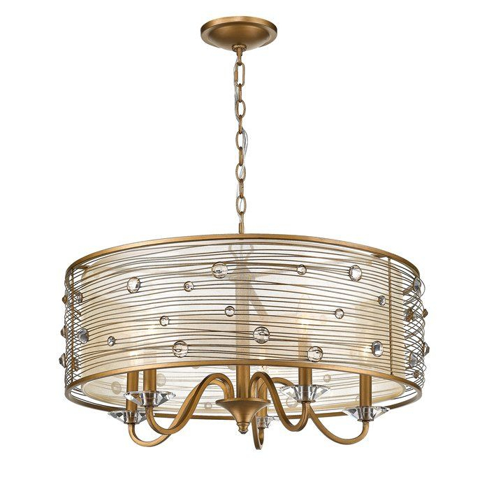 Hermione 5 Light Drum Chandelier In 2019 | For The Home With Hermione 5 Light Drum Chandeliers (Image 11 of 20)
