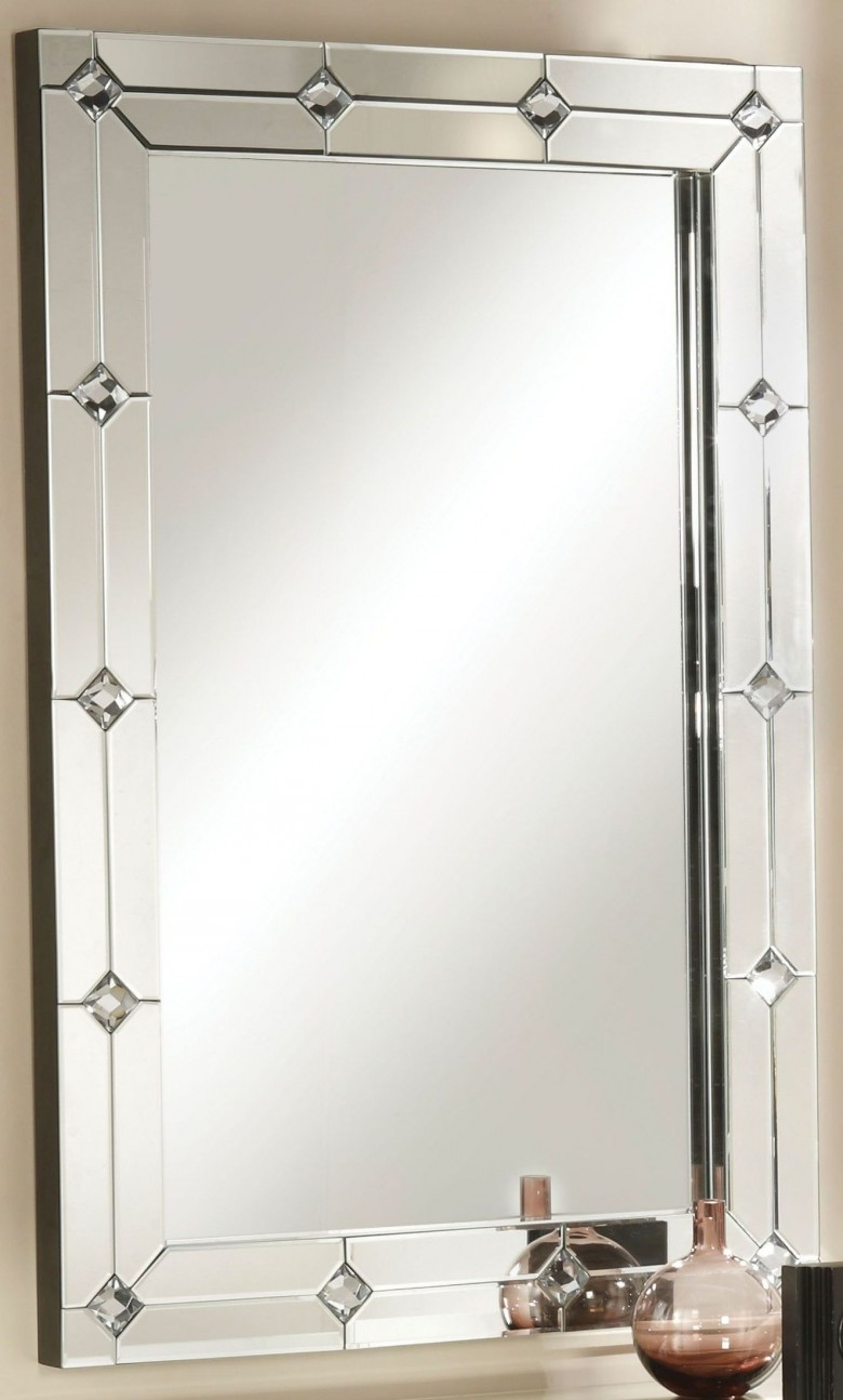 Hessa Mirrored Accent Wall Mirror Pertaining To Accent Wall Mirrors (Image 12 of 20)
