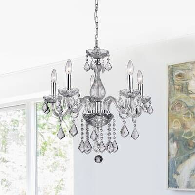 Hesse 5 Light Candle Style Chandelier In 2019   Home With Regard To Hesse 5 Light Candle Style Chandeliers (Image 13 of 20)