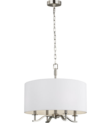 Hewitt 20 Inch Satin Nickel Chandelier Ceiling Light For Hewitt 4 Light Square Chandeliers (View 20 of 20)