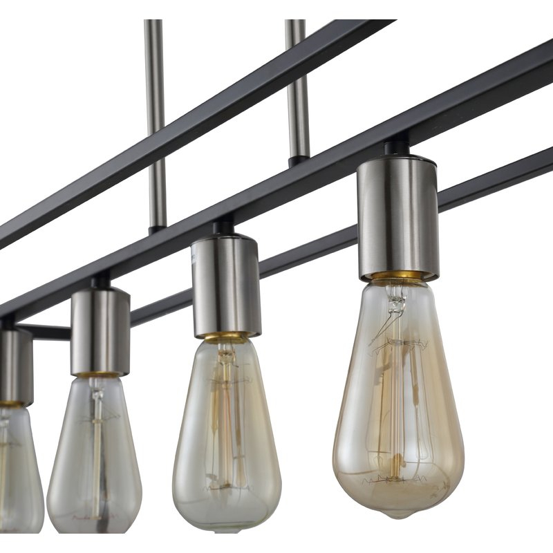 Hinerman 5 Light Kitchen Island Pendant In Novogratz Vintage 5 Light Kitchen Island Bulb Pendants (View 13 of 25)