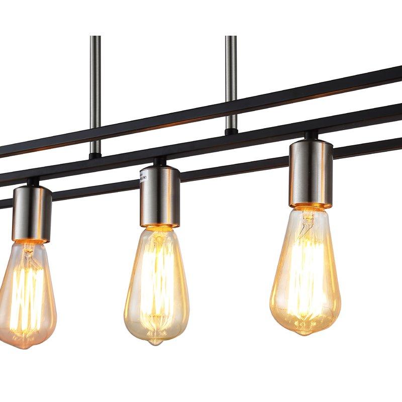 Hinerman 5 Light Kitchen Island Pendant Within Novogratz Vintage 5 Light Kitchen Island Bulb Pendants (View 9 of 25)