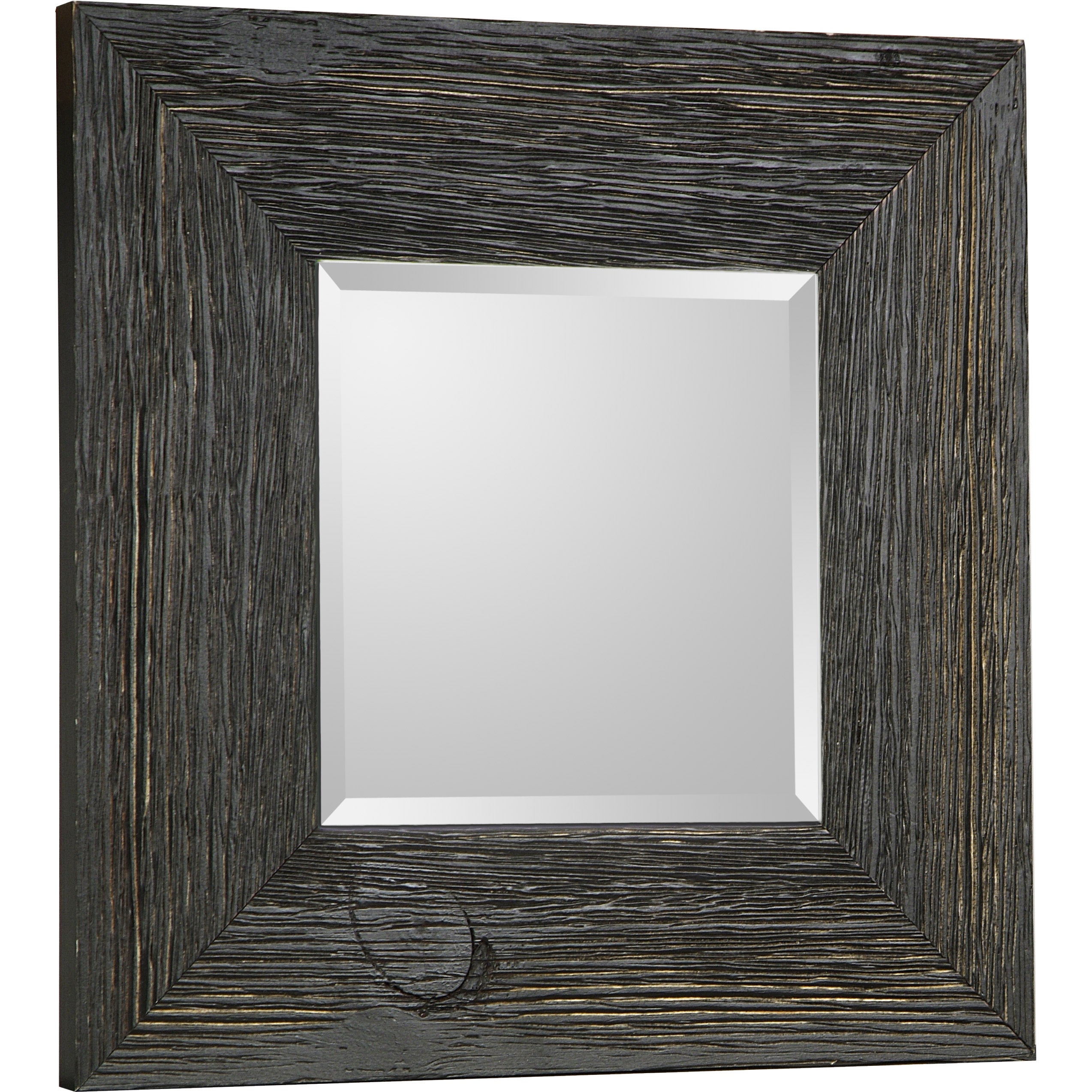 Hobbitholeco Beveled Square Accent Mirror 11X11 (Inner Mirror 6X6), Set Of 4 – Black In Modern & Contemporary Beveled Accent Mirrors (View 13 of 20)