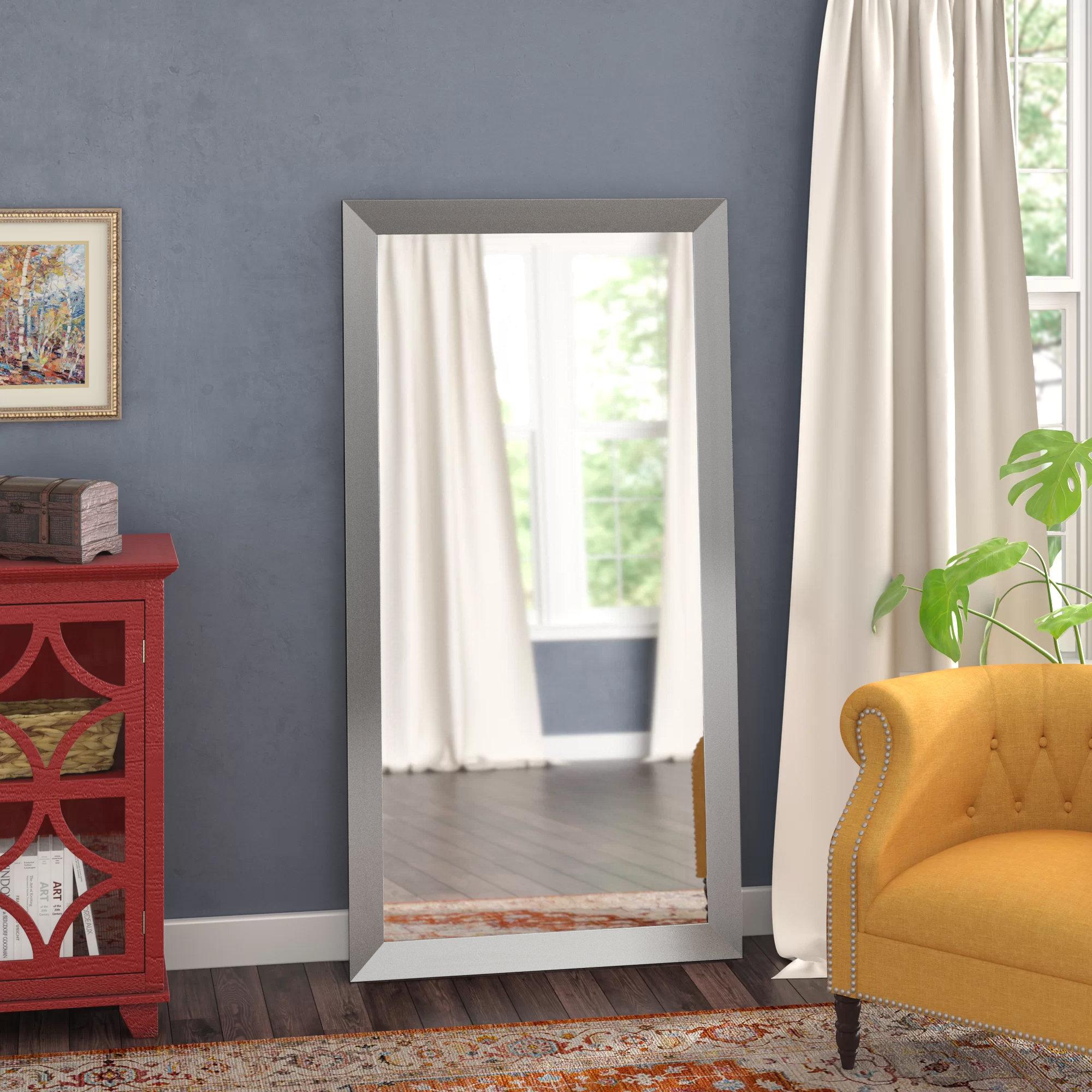 Hogge Full Length Mirror Throughout Hogge Modern Brushed Nickel Large Frame Wall Mirrors (Image 8 of 20)