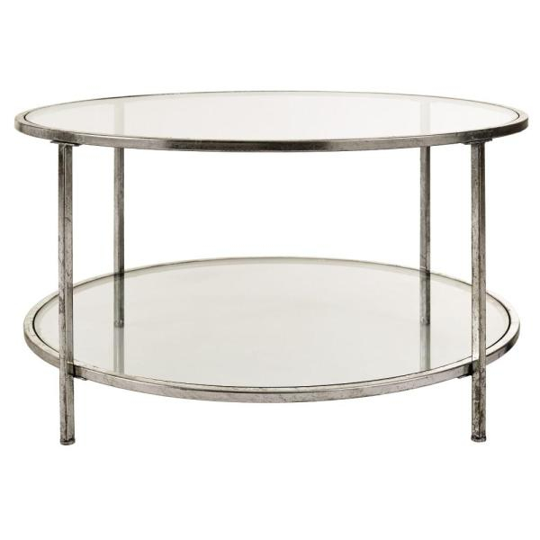 Home Decorators Collection Bella Glass Aged Silver Coffee Throughout Coaster Company Silver Glass Coffee Tables (Image 19 of 25)