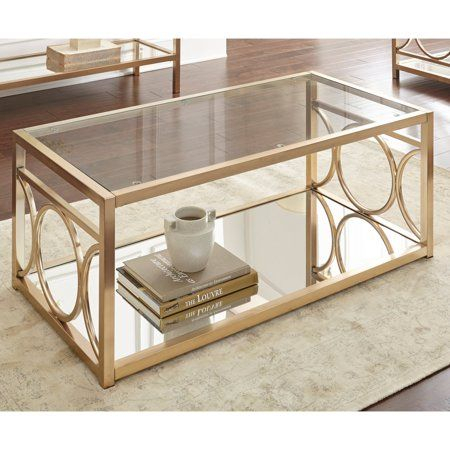 Home In 2019 | Living Room | Glass Top Coffee Table, Table For The Curated Nomad Quatrefoil Goldtone Metal And Glass Coffee Tables (View 5 of 50)