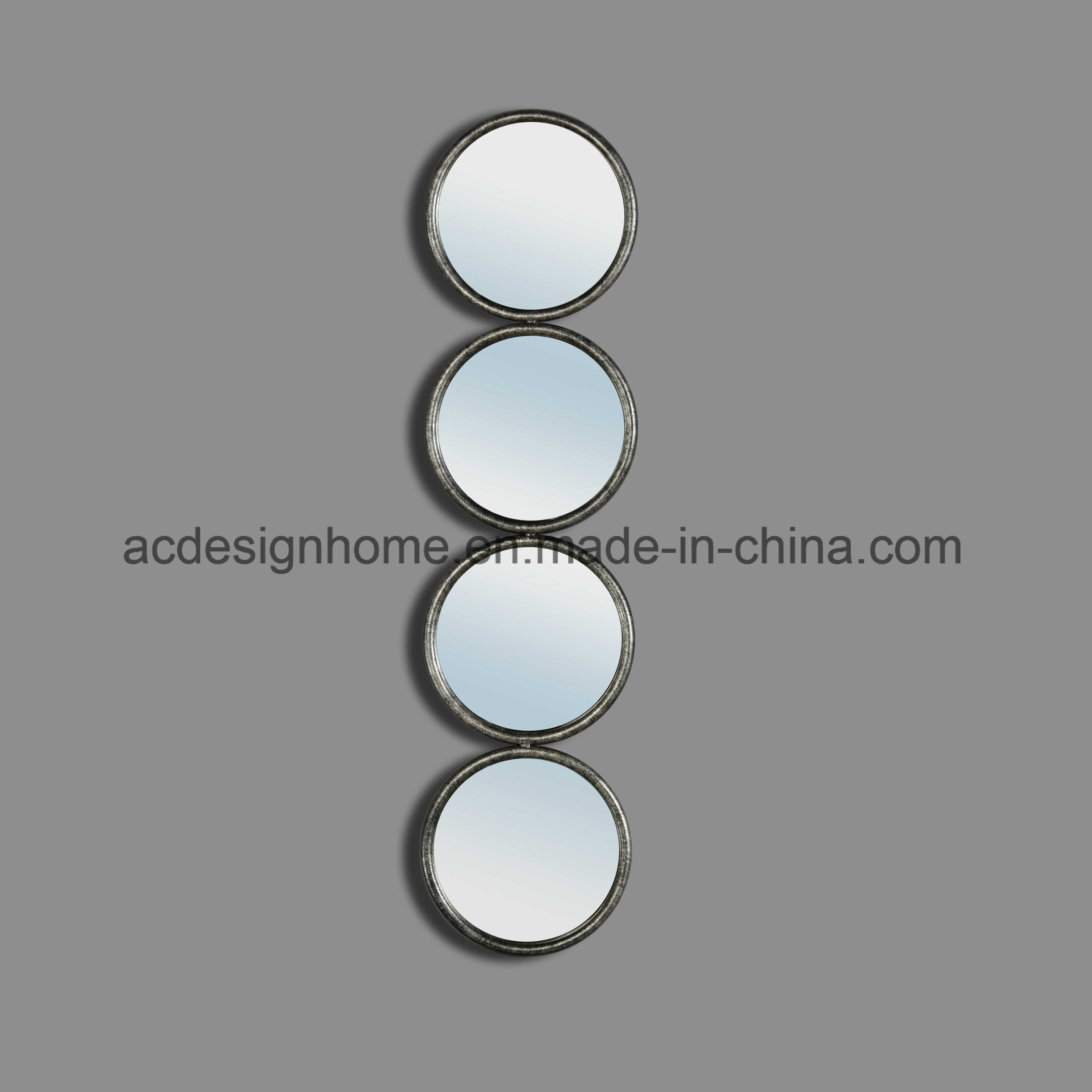 [Hot Item] Simple Modern Elegant Best Price High Quality Interior  Decorative Vertical Four Round Mirror As One Hanging Wall Mirrors With Regard To Vertical Round Wall Mirrors (Image 1 of 20)