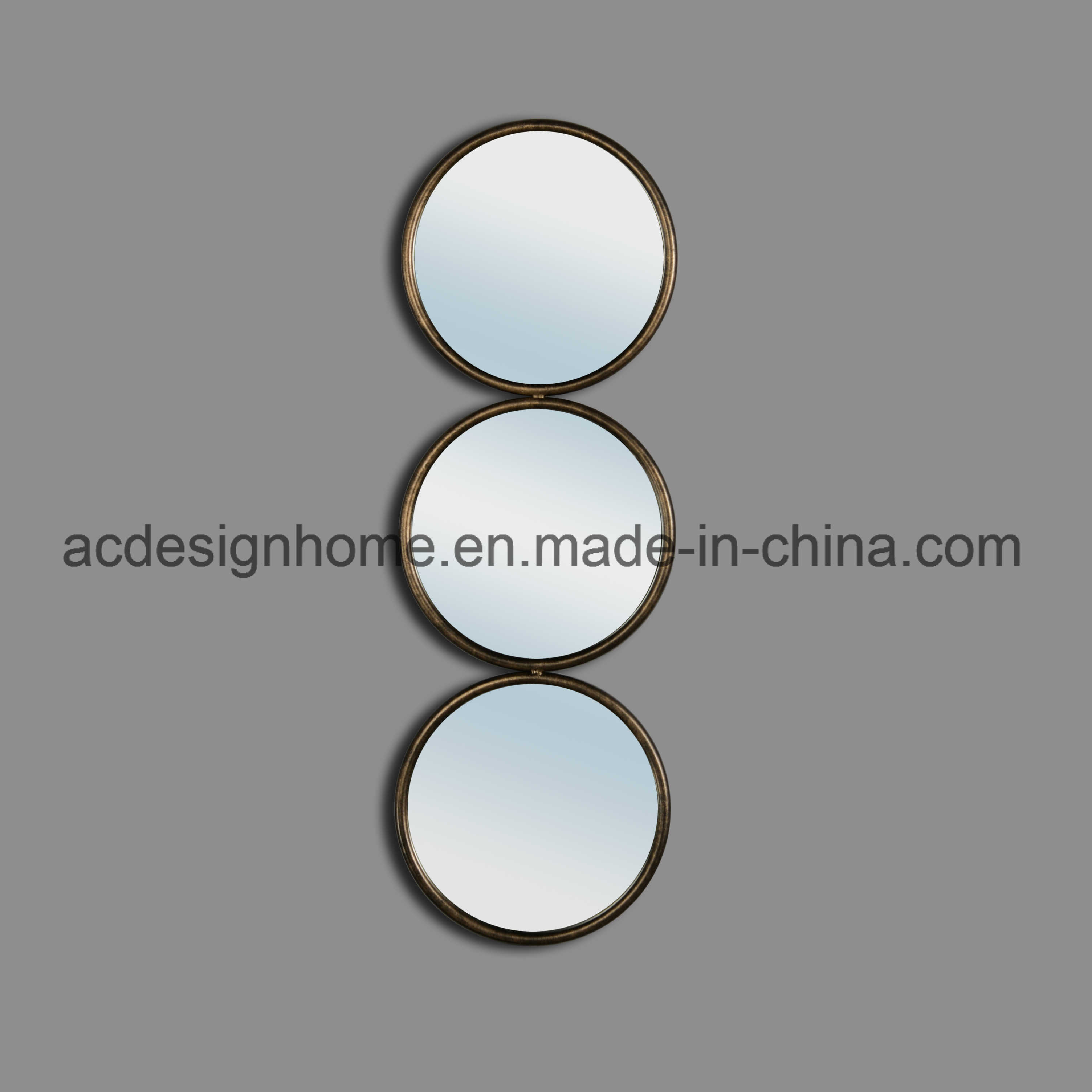 [Hot Item] Simple Modern Elegant Best Price High Quality Interior  Decorative Vertical Three Round Mirror As One Hanging Wall Mirrors With Regard To Vertical Round Wall Mirrors (Image 2 of 20)
