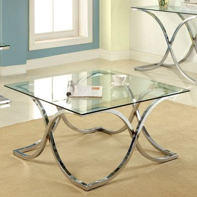 House Of Hampton Gabbro Coffee Table | Products In 2019 Within Furniture Of America Tellarie Contemporary Chrome Coffee Tables (View 11 of 25)