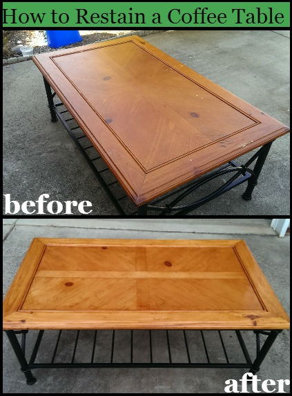 How To Refinish A Table Or Coffee Table For A Beginner Inside Handmade Whitewashed Stripped Wood Tables (Image 11 of 25)