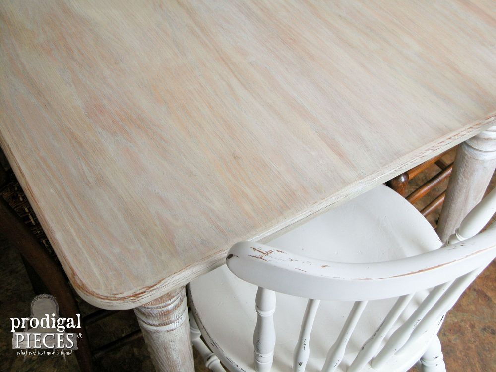 How To Whitewash (Or Limewash) Wood ~ Farmhouse Table Inside Handmade Whitewashed Stripped Wood Tables (Image 13 of 25)