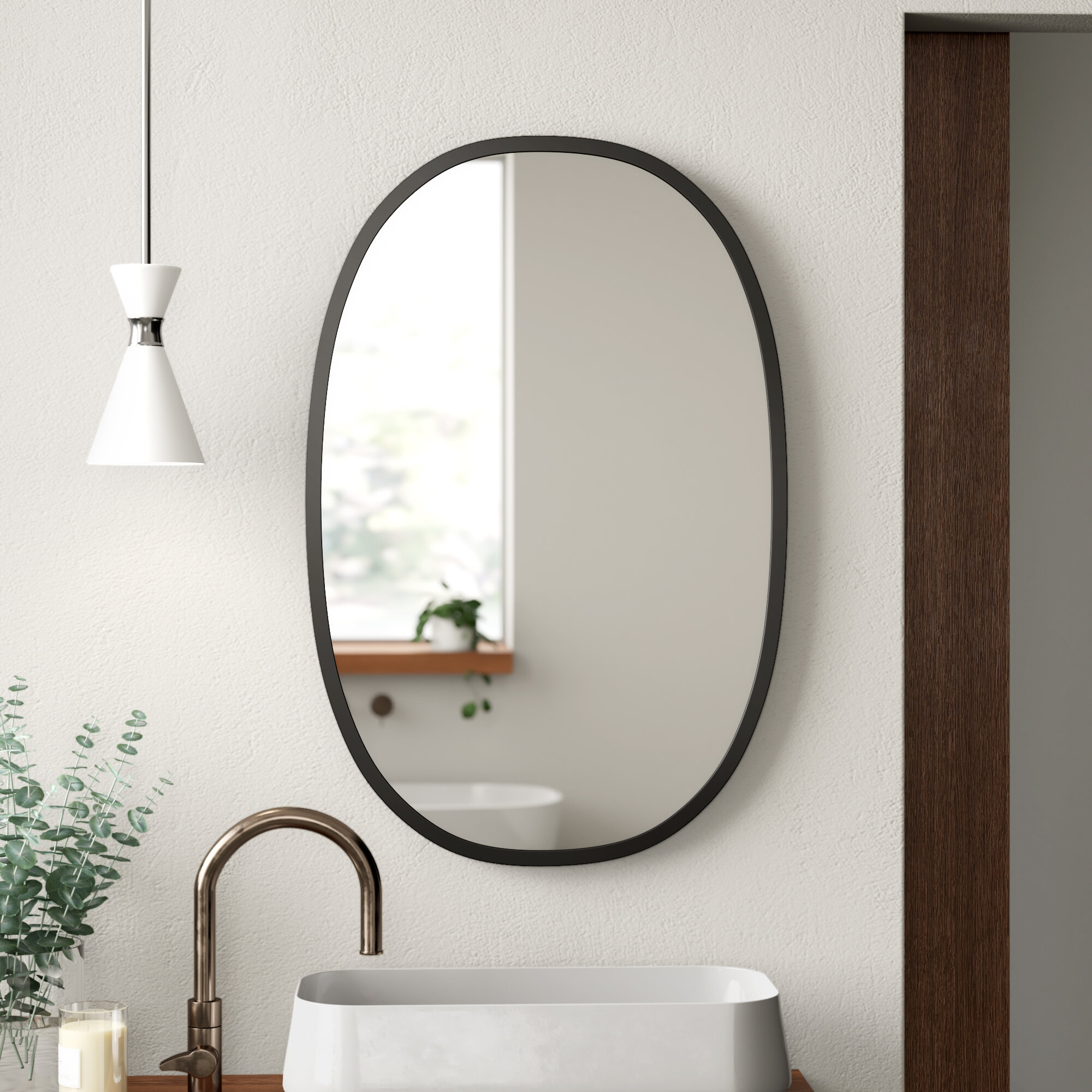 Hub Modern & Contemporary Accent Mirror For Polen Traditional Wall Mirrors (View 10 of 20)
