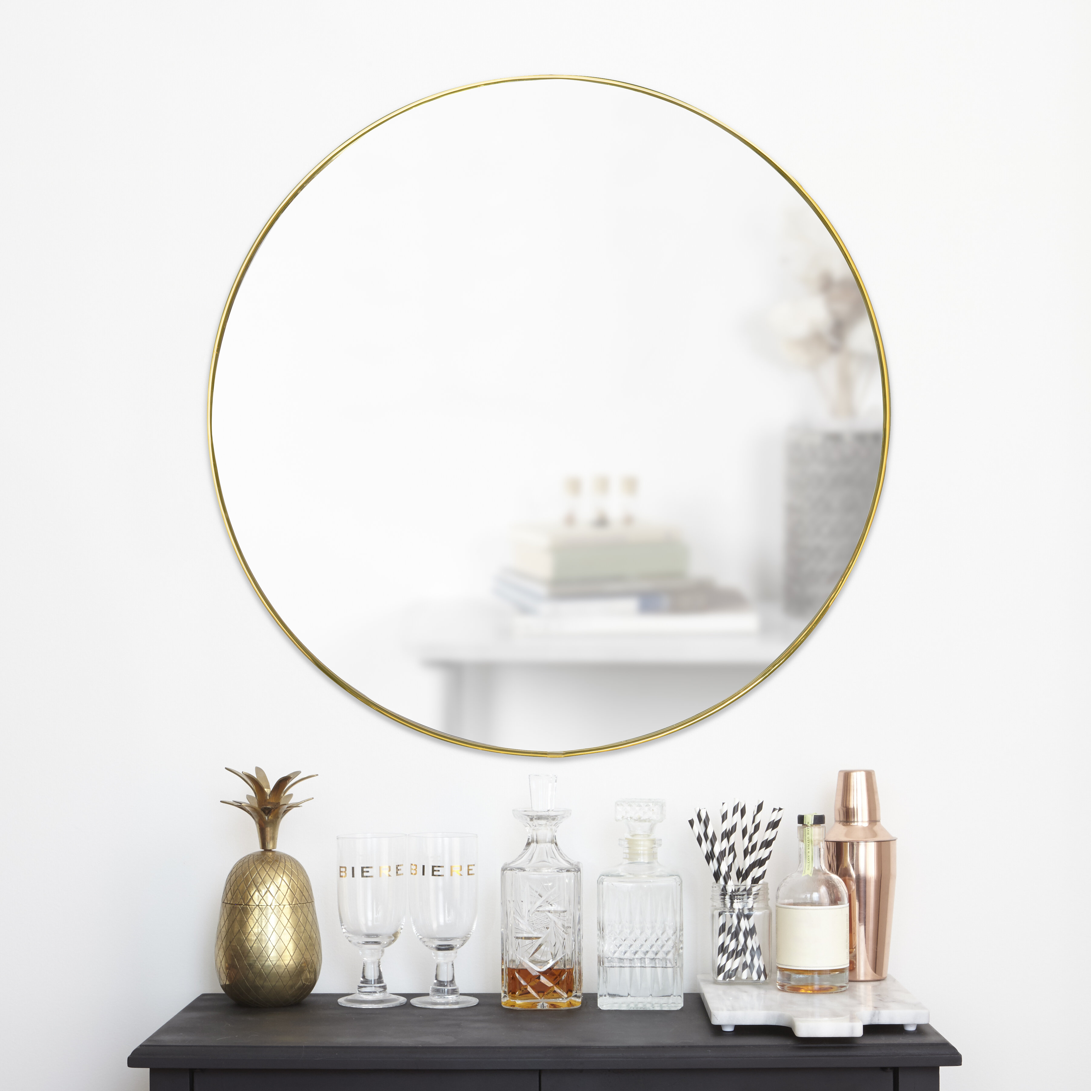 Hubba Modern & Contemporary Accent Mirror With Needville Modern & Contemporary Accent Mirrors (Image 6 of 20)