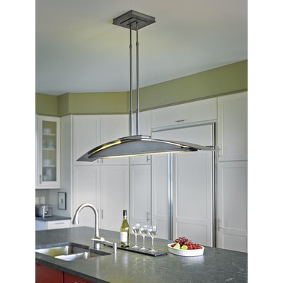 Hubbardton Forge Bent 4 Light Kitchen Island Pendant Size In Novogratz Vintage 5 Light Kitchen Island Bulb Pendants (View 14 of 25)