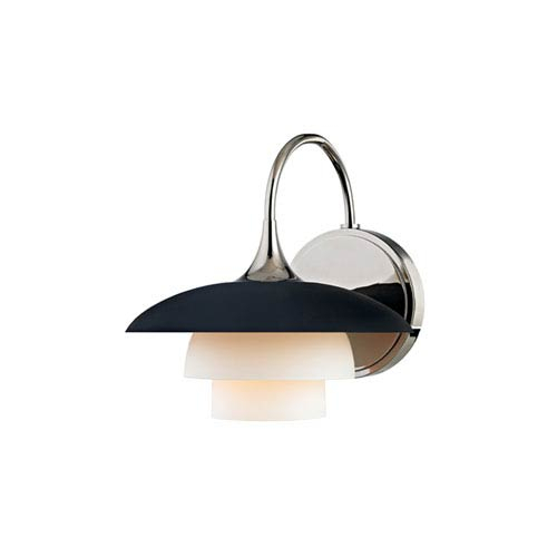 Hudson Valley Barron Polished Nickel And Black One Light Wall Sconce Throughout Barrons 1 Light Single Cylinder Pendants (View 15 of 25)