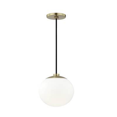 Hunter 1 Light Globe Pendant & Reviews | Joss & Main Intended For Devereaux 1 Light Single Globe Pendants (Image 12 of 25)