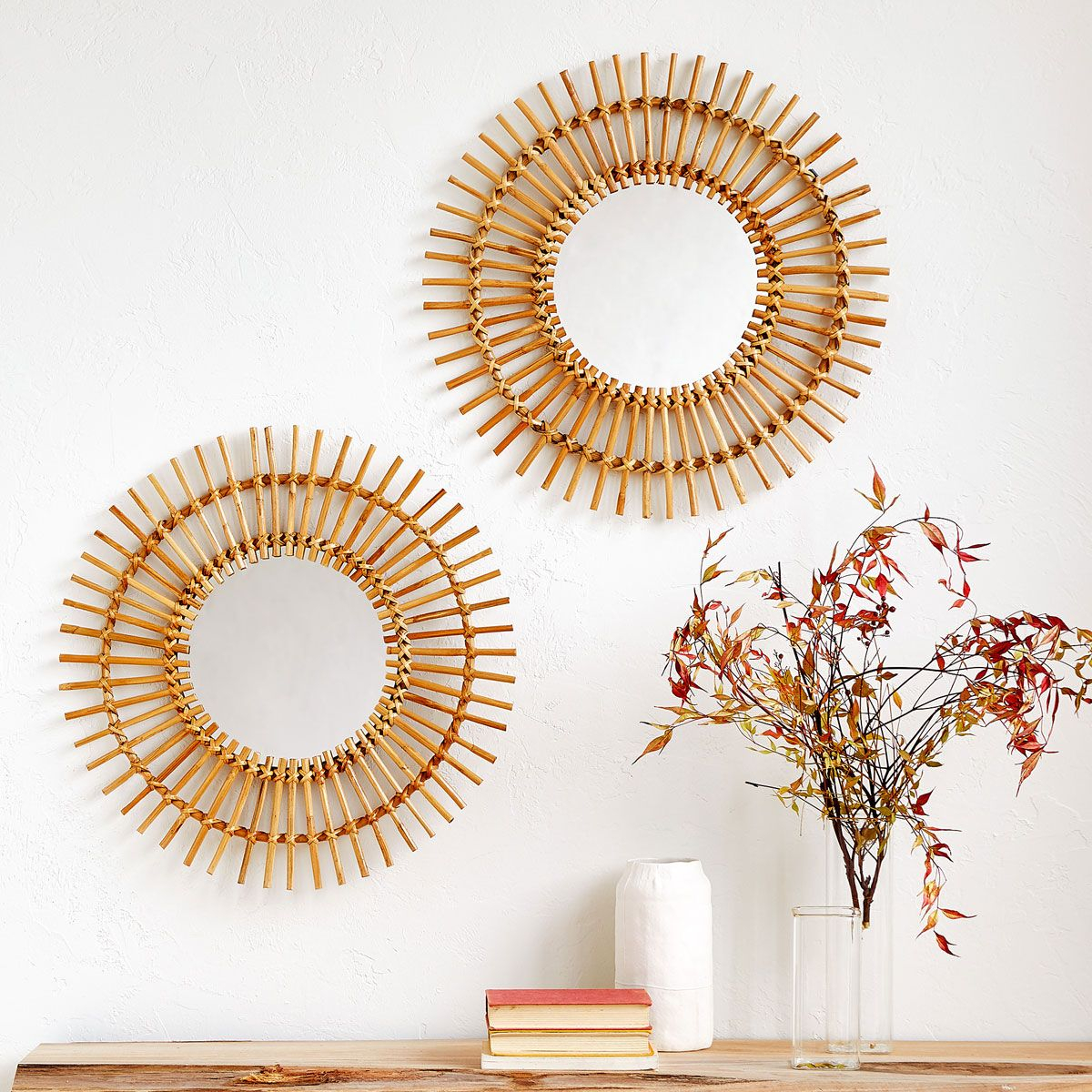 Image 1 Of The Product Sun Shaped Bamboo Mirror | Drayton In Pertaining To Sun Shaped Wall Mirrors (Image 11 of 20)