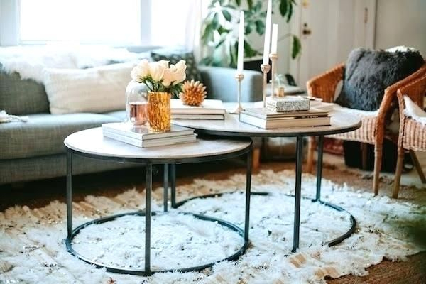 Image Result For Round Coffee Nesting Tables Pertaining To The Gray Barn Rosings Park Grey Wash Cocktail Tables (View 19 of 25)