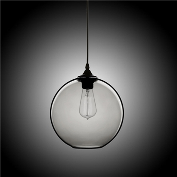 (In Stock) Modern Minimalist Glass Pendant Light Globe Pendant With 1 Light  (Silver Grey) Dining Room Lighting Ideas Lighting Living Room Bedroom For 1 Light Globe Pendants (Image 1 of 25)