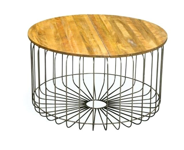 Industrial Round Coffee Table – Give (View 25 of 50)