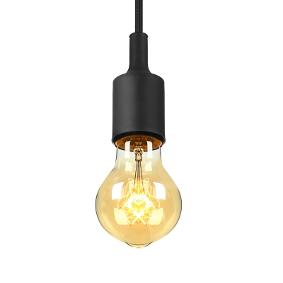 Industrial Silicone Multi Color Pendant Light Vintage Edison Bulb 1 Within Vintage Edison 1 Light Bowl Pendants (View 4 of 25)