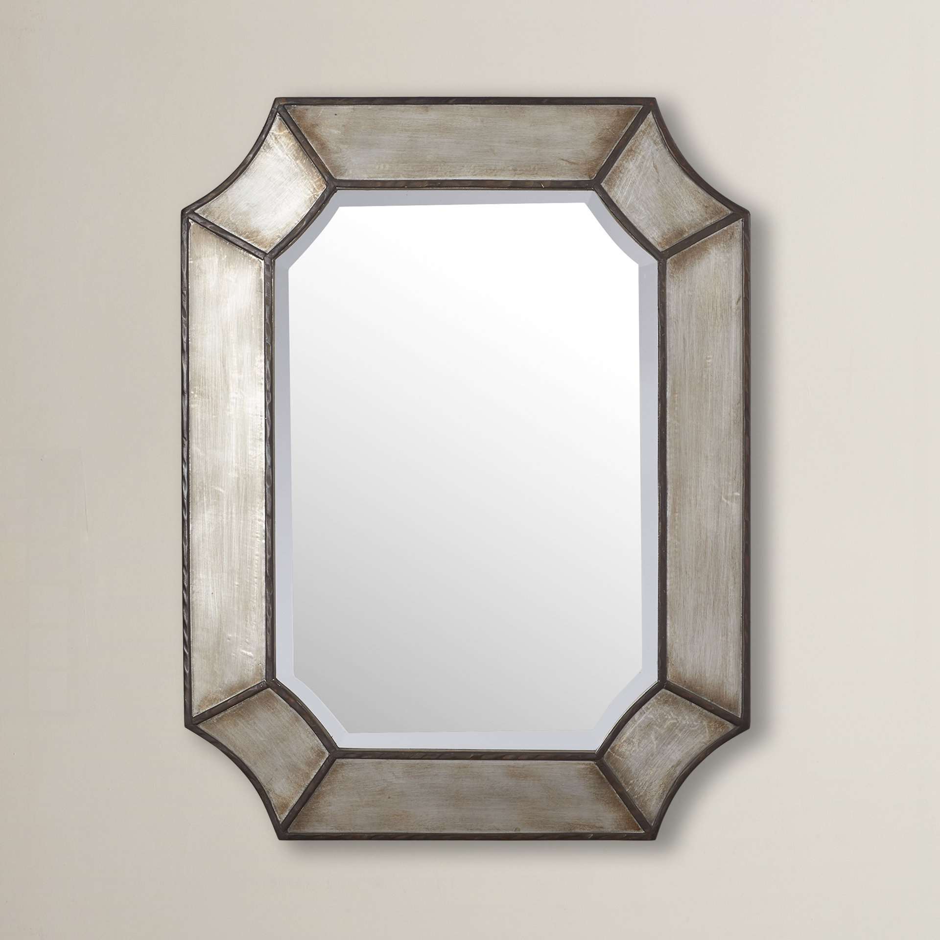 Industrial Wall & Accent Mirrors | Birch Lane With Koeller Industrial Metal Wall Mirrors (Image 7 of 20)