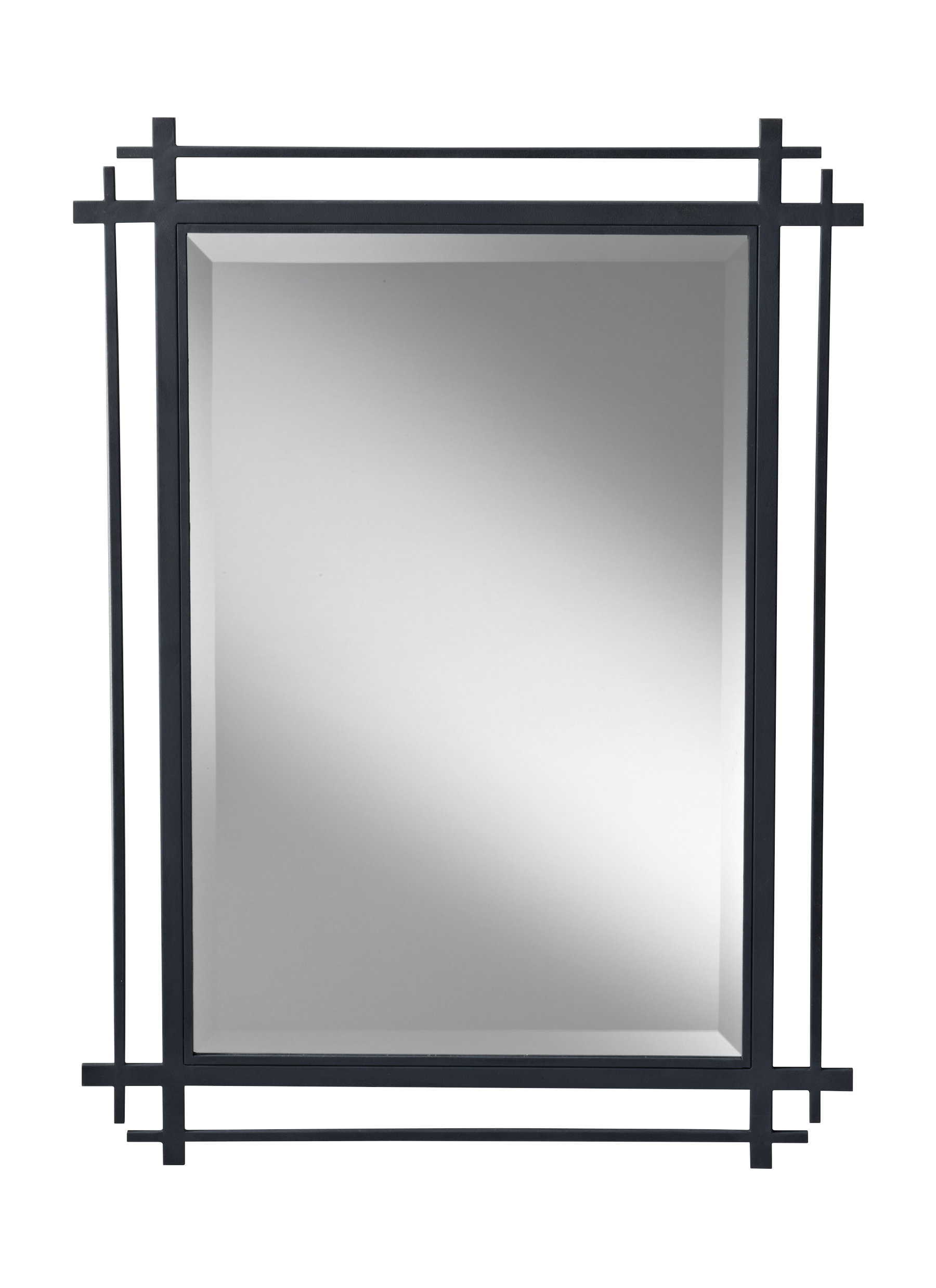 Industrial Wall & Accent Mirrors | Birch Lane With Koeller Industrial Metal Wall Mirrors (Image 6 of 20)
