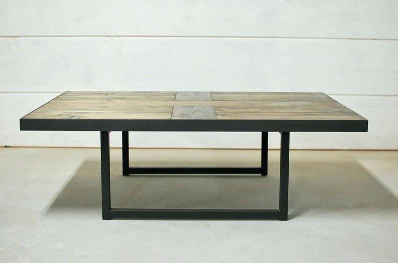 Industrial Wood Coffee Table – Jamesdelles Within Montgomery Industrial Reclaimed Wood Coffee Tables With Casters (View 44 of 50)