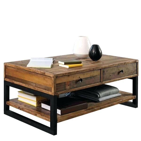 Industrial Wood Coffee Table – Magicbooks (View 21 of 50)