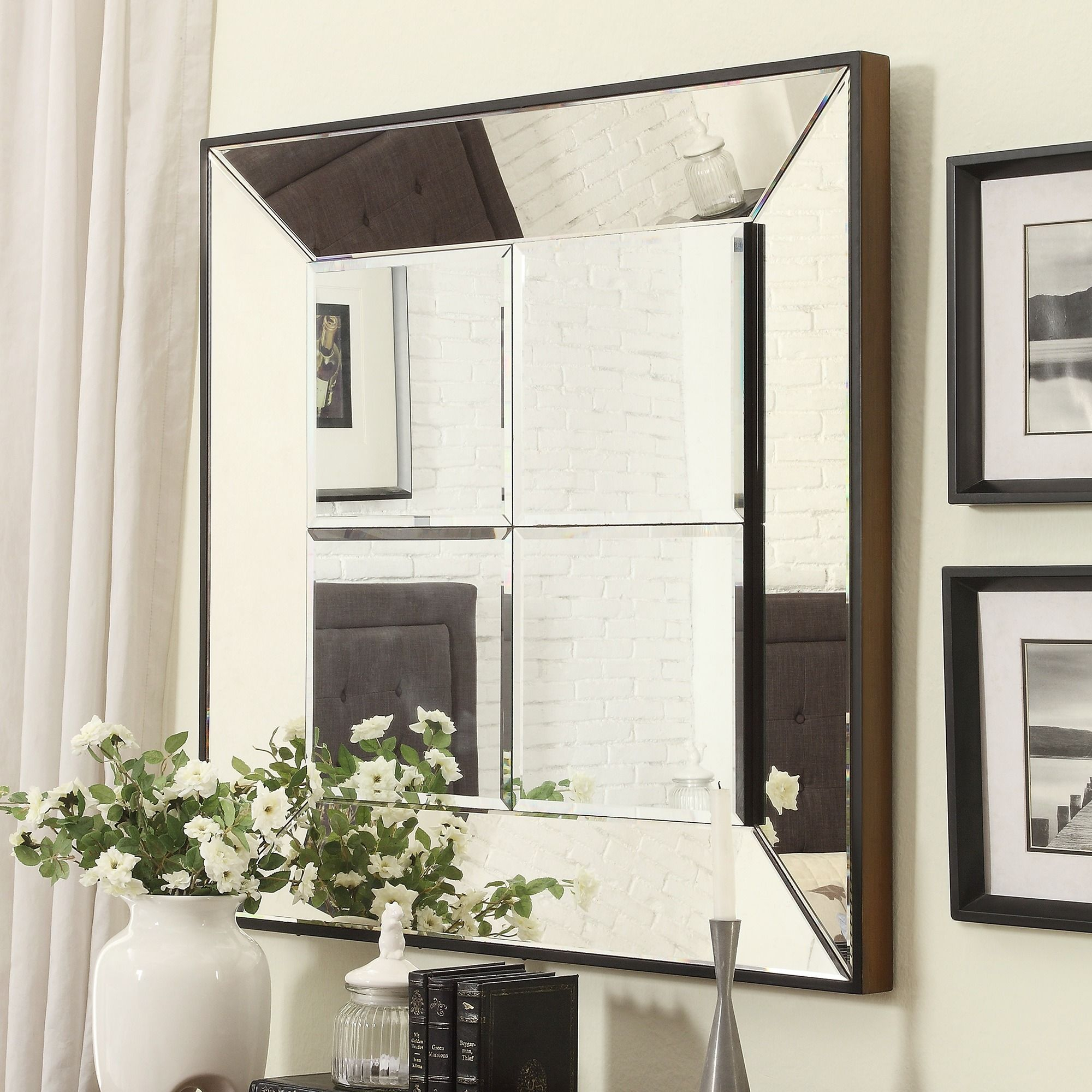 Inspire Q Dubois Beveled Multipanel Square Accent Wall For Accent Wall Mirrors (Image 15 of 20)