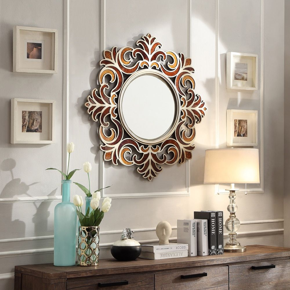 Inspire Q Kiona Roccoco Frame Bronze Finish Accent Wall Regarding Accent Wall Mirrors (Image 16 of 20)