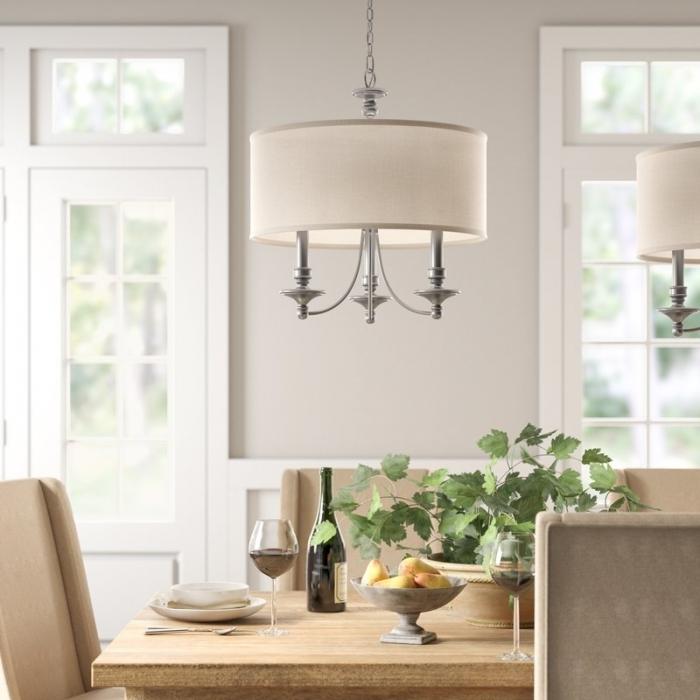 Inspiring Dining Room Drum Chandelier Idea – Decorichmond With Regard To Montes 3 Light Drum Chandeliers (View 20 of 20)