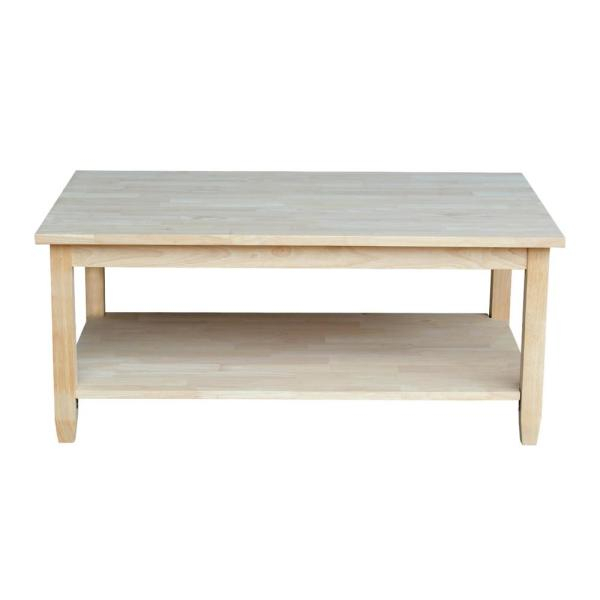 International Concepts Solano Unfinished Coffee Table Ot 6C Throughout Unfinished Solid Parawood Square Coffee Tables (View 4 of 25)