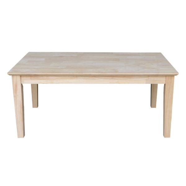 International Concepts Unfinished Coffee Table Ot 9Tc – The Throughout Shaker Unfinished Solid Parawood Tall Coffee Tables (View 45 of 50)