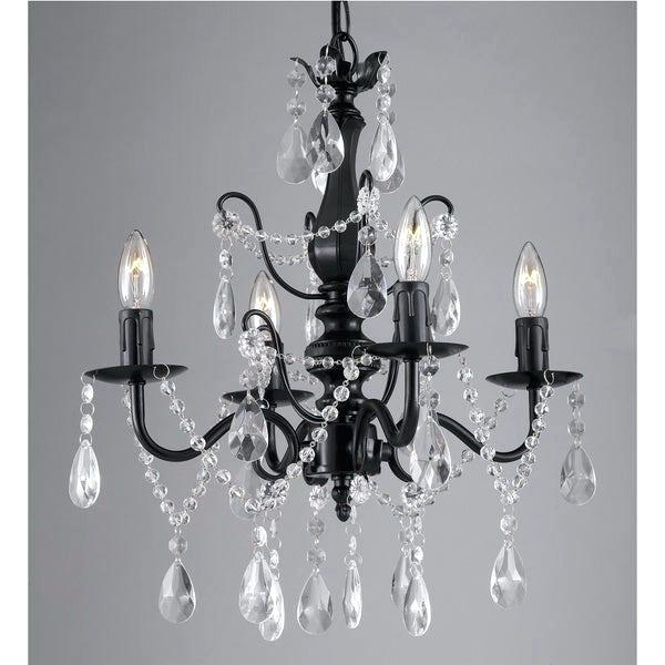 Iron And Crystal Chandelier – Hirokostrauch (View 16 of 20)