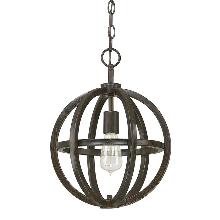 Irwin 1 Light Single Globe Pendant Regarding Kilby 1 Light Pendants (View 8 of 25)