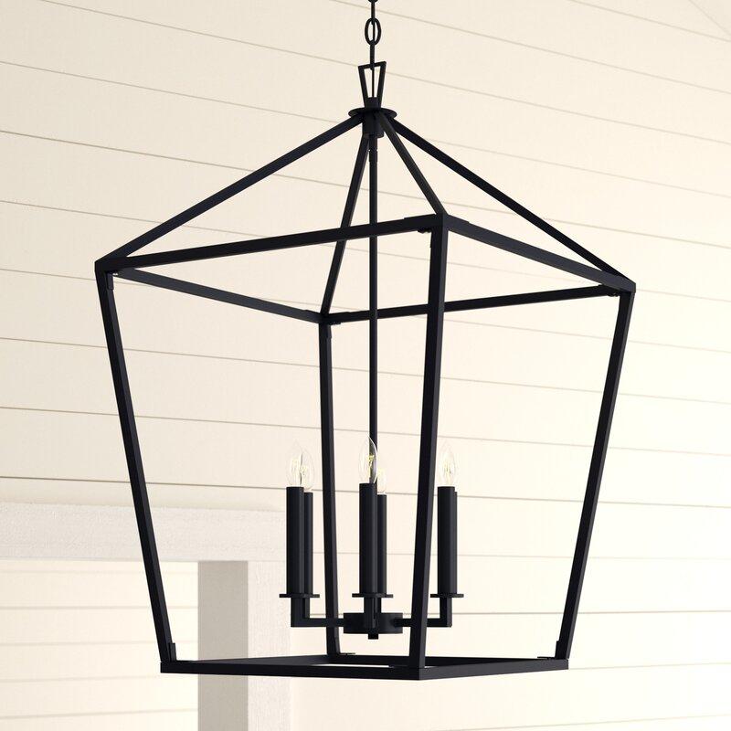 Israel 6 Light Lantern Geometric Pendant With William 4 Light Lantern Square / Rectangle Pendants (Image 8 of 25)