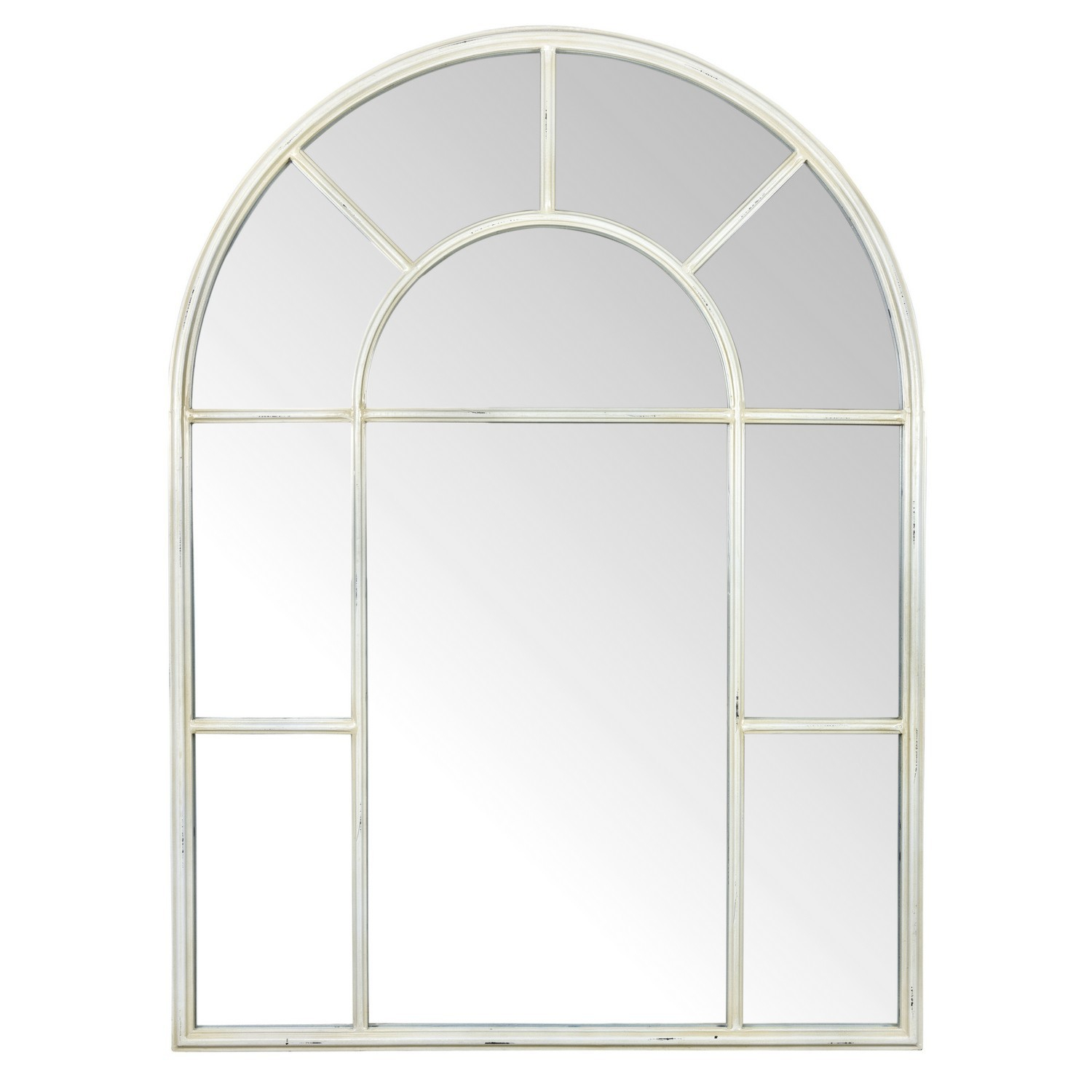 Ivory Arch Mirror Throughout Metal Arch Window Wall Mirrors (Image 10 of 20)
