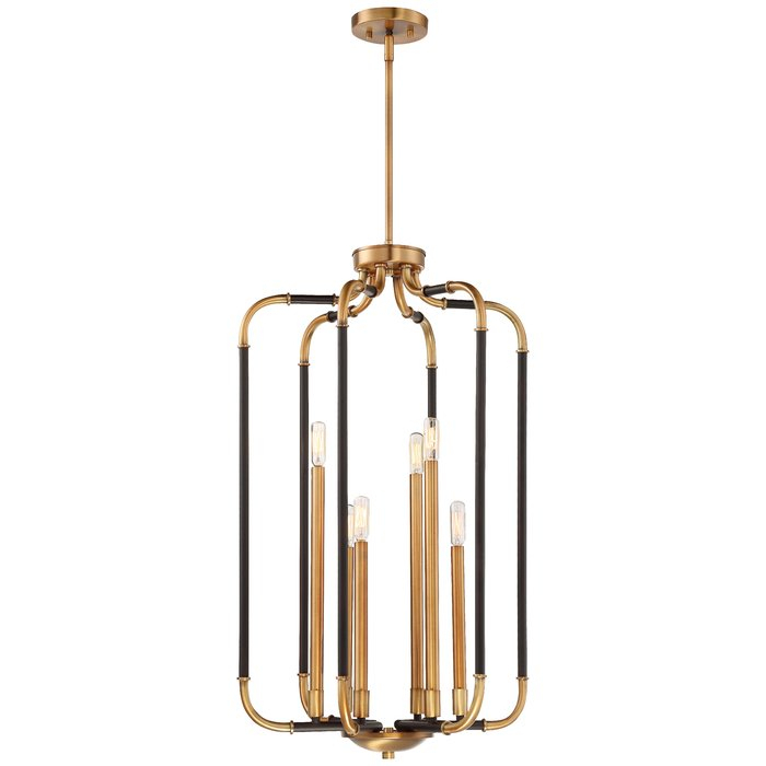 Jairo 6 Light Lantern Geometric Pendant With Regard To Poynter 1 Light Single Cylinder Pendants (View 25 of 25)
