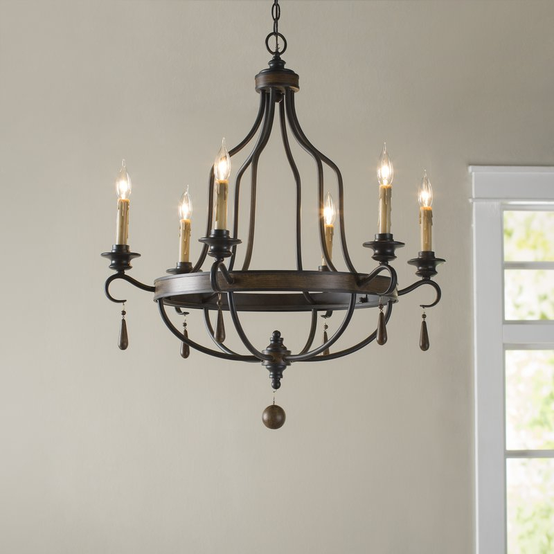 Jamesburg 6 Light Candle Style Chandelier Pertaining To Hamza 6 Light Candle Style Chandeliers (View 11 of 20)
